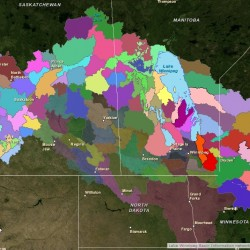 Lake Winnipeg Watershed Map